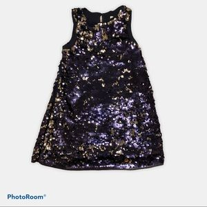 Little Girl's Blue and Silver Sequin Dress